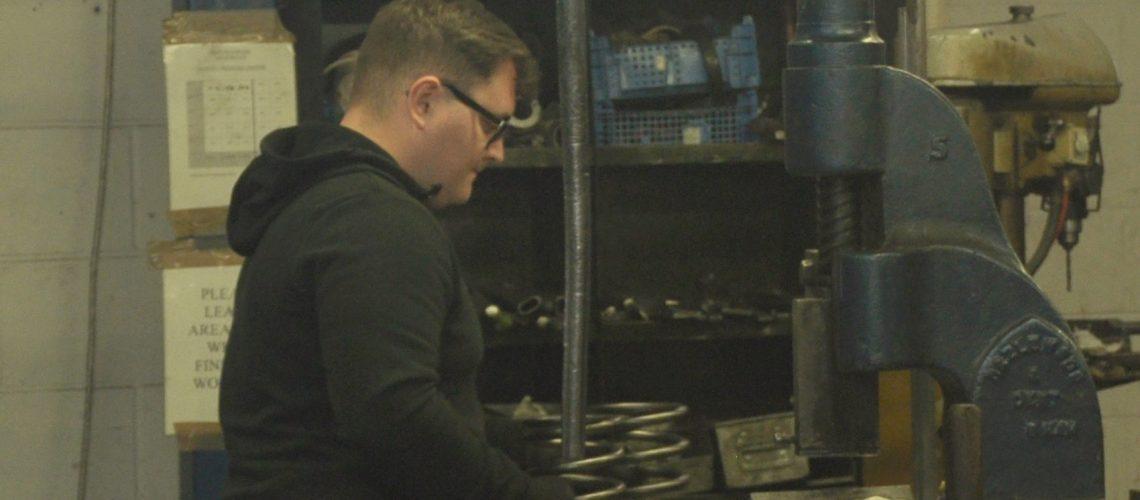 apprentice springmaker starts at Springcoil